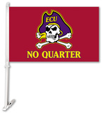 NCAA East Carolina Pirates Car Flag with Wall Brackett Flag