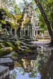 Reflections at Ta Prohm Temple (Rajavihara) Photographic Print by Michael Nolan
