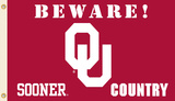 NCAA Oklahoma Sooners Country Flag with Grommets Flag