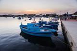 Fishing Boats at Sunset in Marzamemi Fishing Harbour Stampa fotografica di Matthew Williams-Ellis