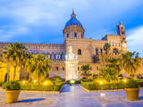 Palermo Cathedral (Duomo Di Palermo) at Night, Palermo, Sicily, Italy, Europe Photographic Print by Matthew Williams-Ellis