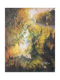 Ouderdyke, Texel Giclee Print by John Erskine