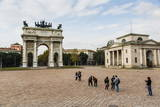 The Arch of Peace (Arco Della Pace), Sempione Park, Milan, Lombardy, Italy, Europe Photographic Print by Yadid Levy