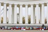 Colonnade of Vorontsov's Palace, Odessa, Crimea, Ukraine, Europe Photographic Print by Richard Cummins