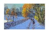 Snowballing, Allestree Park, Derby, 2014 Reproduction procédé giclée par Andrew Macara