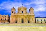 Baroque St. Nicholas Cathedral (Noto Cathedral) Fotografisk trykk av Matthew Williams-Ellis