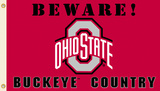 NCAA Ohio State Buckeyes Country Flag with Grommets Flag