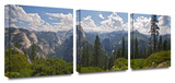 Yosemite- Half Dome and Nevada Falls 3-Piece Canvas Set Posters by Dan Wilson
