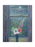 Summer Night (Bouquet in Window), 2013 Giclee Print by Ruth Addinall
