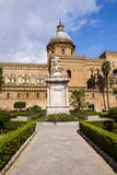 Santa Rosalia Statue in Front of Palermo Cathedral (Duomo Di Palermo) Photographic Print by Matthew Williams-Ellis