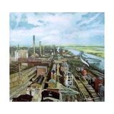 Farewerke, Industrial Works, Hoechst, Frankfurt, Germany Giclee Print by John Erskine