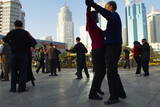 Morning Exercise, People Square, Kunming, Yunnan, China, Asia Photographic Print by Bruno Morandi
