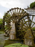 Water Mill in the Old Town, Lijiang, UNESCO World Heritage Site, Yunnan Province, China, Asia Photographic Print by Simon Montgomery