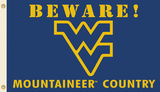 NCAA West Virginia Mountaineers Country Flag with Grommets Flag