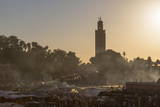 Evening Light on the Busy Square of Place Jemaa El-Fna Photographic Print by Martin Child