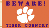 NCAA Clemson Tigers Country Flag with Grommets Flag