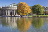 Staatstheater (State Theatre) and Schlosspark in Autumn Photographic Print by Markus Lange