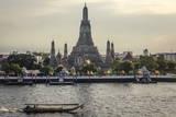 Wat Arun and Chao Phraya River, Bangkok, Thailand Photographic Print by Andrew Taylor