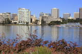 Oakland Skyline and Lake Merritt, Oakland, California, United States of America, North America Photographic Print by Richard Cummins
