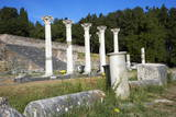 Columns in the Ancient Greek City of Asklepieion, Kos, Dodecanese, Greek Islands, Greece, Europe Photographic Print by Tuul