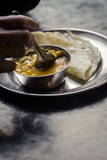 Daal and Roti, Bhaktapur, Nepal, Asdia Photographic Print by Andrew Taylor