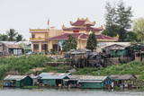 Temple on the Tonle Sap River Photographic Print by Michael Nolan