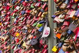 Love Locks on the Railway Bridge in Cologne, North Rhine-Westphalia, Germany, Europe Photographic Print by Julian Elliott