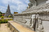 Stupas in the Royal Palace, in the Capital City of Phnom Penh Photographic Print by Michael Nolan