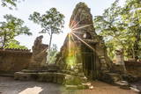 West Gate at Ta Prohm Temple (Rajavihara) Photographic Print by Michael Nolan