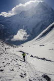 A Hiker Ascends the Modi Khola Valley to Reach Annapurna Base Camp, 4130M Photographic Print by Andrew Taylor