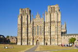 Front Facade of Wells Cathedral, Wells, Somerset, England, United Kingdom, Europe Photographic Print by Neale Clark
