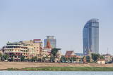 View Along the Mekong River in the Capital City of Phnom Penh Photographic Print by Michael Nolan