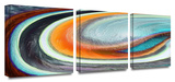 Currents 3-Piece Canvas Set Gallery Wrapped Canvas Set by Dean Uhlinger