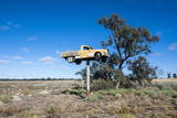 Old Truck on a Huge Pole Photographic Print by Michael Runkel
