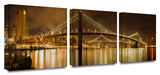 Brooklyn Bridge 3-Piece Canvas Set Gallery Wrapped Canvas Set by Cody York