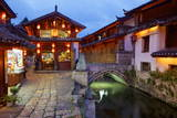 Twilight in the Old Town, Lijiang, UNESCO World Heritage Site, Yunnan Province, China, Asia Photographic Print by Simon Montgomery