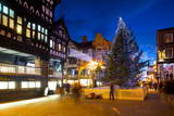 East Gate Street at Christmas, Chester, Cheshire, England, United Kingdom, Europe Photographic Print by Frank Fell
