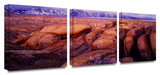 Sierra Dawn Storm light 3-Piece Canvas Set Gallery Wrapped Canvas Set by Dean Uhlinger