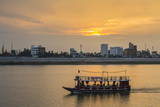 Sunset Along the Mekong River in the Capital City of Phnom Penh Photographic Print by Michael Nolan