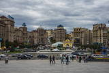Maidan Nezalezhnosti, Center of Kiev, Ukraine, Europe Photographic Print by Michael Runkel
