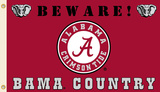 NCAA Alabama Crimson Tide Country Flag with Grommets Flag