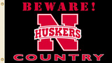 NCAA Nebraska Cornhuskers Country Flag with Grommets Flag