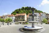 Old Town, Castle, Ljubljanski Grad, Ljubljana, Slovenia, Europe Photographic Print by Karl Thomas