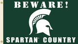 NCAA Michigan State Spartans Country Flag with Grommets Flag