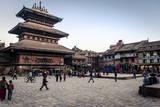 Bhairabnath Temple and Taumadhi Tole, Bhaktapur, UNESCO World Heritage Site, Nepal, Asia Reprodukcja zdjęcia autor Andrew Taylor