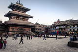 Bhairabnath Temple and Taumadhi Tole, Bhaktapur, UNESCO World Heritage Site, Nepal, Asia Photographic Print by Andrew Taylor