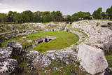 Roman Amphitheatre at Syracuse (Siracusa), UNESCO World Heritage Site, Sicily, Italy, Europe Photographic Print by Matthew Williams-Ellis