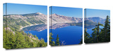 Crater Lake 3-Piece Canvas Set Gallery Wrapped Canvas Set by Cody York