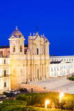 Baroque Noto Cathedral (St. Nicholas Cathedral) at Night Photographic Print by Matthew Williams-Ellis