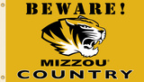 NCAA Missouri Tigers Country Flag with Grommets Flag